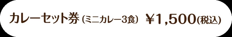 3枚綴りチケット ¥1,500(税込)